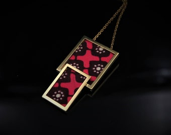 Wax fabric pendant