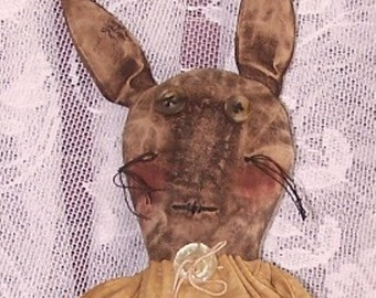 Instant Download PRIMITIVE RABBIT PATTERN epattern Quick and Easy to Make Spring Easter Anytime