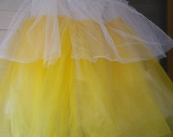 Part of Belle's ball room dress,  tulle under skirt
