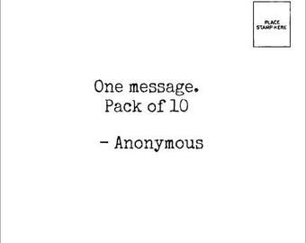Choose one message - Pack Of 10 - Anonymous Mail