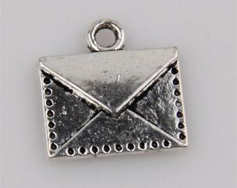 Envelope Charm Antique Silver 1pc