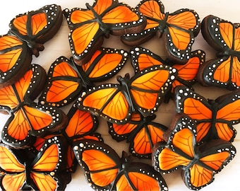 12 Monarch Butterfly Sugar Cookies