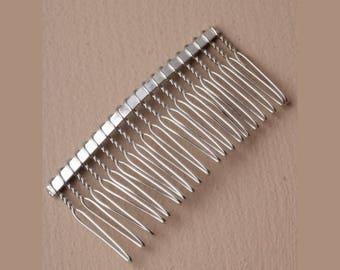 7 cm silver metal comb