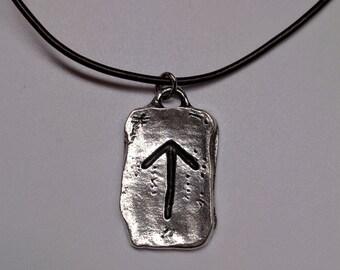 Tiwaz Warrior Norse Rune Charm Men's Viking Rune Necklace