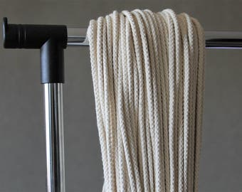 Cotton rope - 4mm diameter, 50 meter, knitted rope for Macrame projects