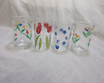 Four Swanky Colorful Glasses 1950,s