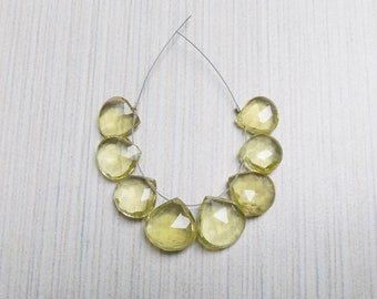 Faceted Lemon Quartz fat briolettes