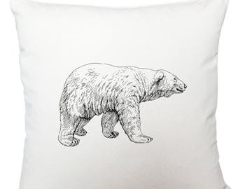 Cushions/ cushion cover/ scatter cushions/ throw cushions/ white cushion/ polar bear cushion cover