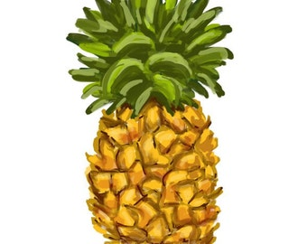 Pineapple - Original art download 2 files, pineapple printable, pineapple clip art