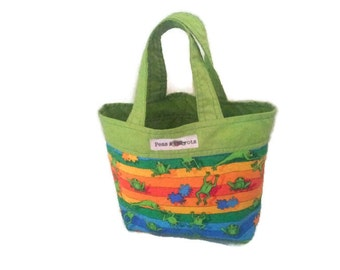 Lunch Bag/Tote, Green Lunch Bag/Tote, Frog Bag/Tote, Childrens Lunch Bag/Tote