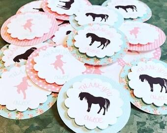 Shabby Chic Pony Tags