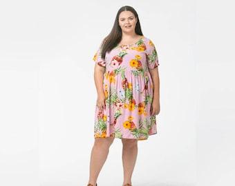 Pink Pineapples Nursing Dress for H