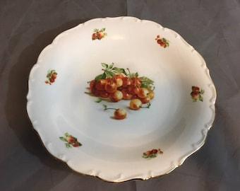 "Vintage Bavaria Schuman Arzberg Germany Dinner Plate Cherry Cherries 11 3/4"" Diameter"