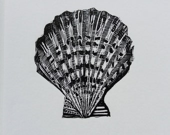 Original Woodcut Shell