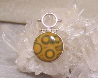 OCEAN JASPER 25mm Round - Hinged Bead Frame Centerpiece in Stone and  Sterling Silver