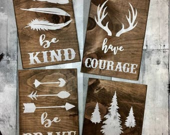 rustic nursery sign, woodland nursery decor, rustic nursery decor, woodland nursery, rustic nursery