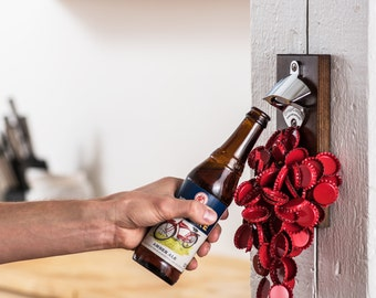 Wall Mount Magnetic Bottle Opener