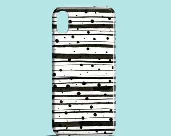 Dots and Lines phone case / iPhone X, iPhone 8,  iPhone 7, iPhone 7 Plus, iPhone SE, iPhone 6S, iPhone 6, iPhone 5S, iPhone 5