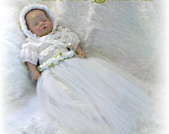 Christening Gown Crochet Pattern PDF 620