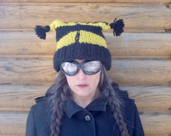 Bumble Bee Stripe Square Hat