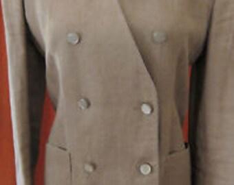 Vintage 80's Valentino 2 piece Linen Suit Size 4