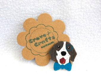 Hipster Dog Brooch
