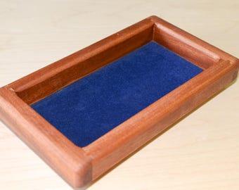 Handmade wooden mens valet tray