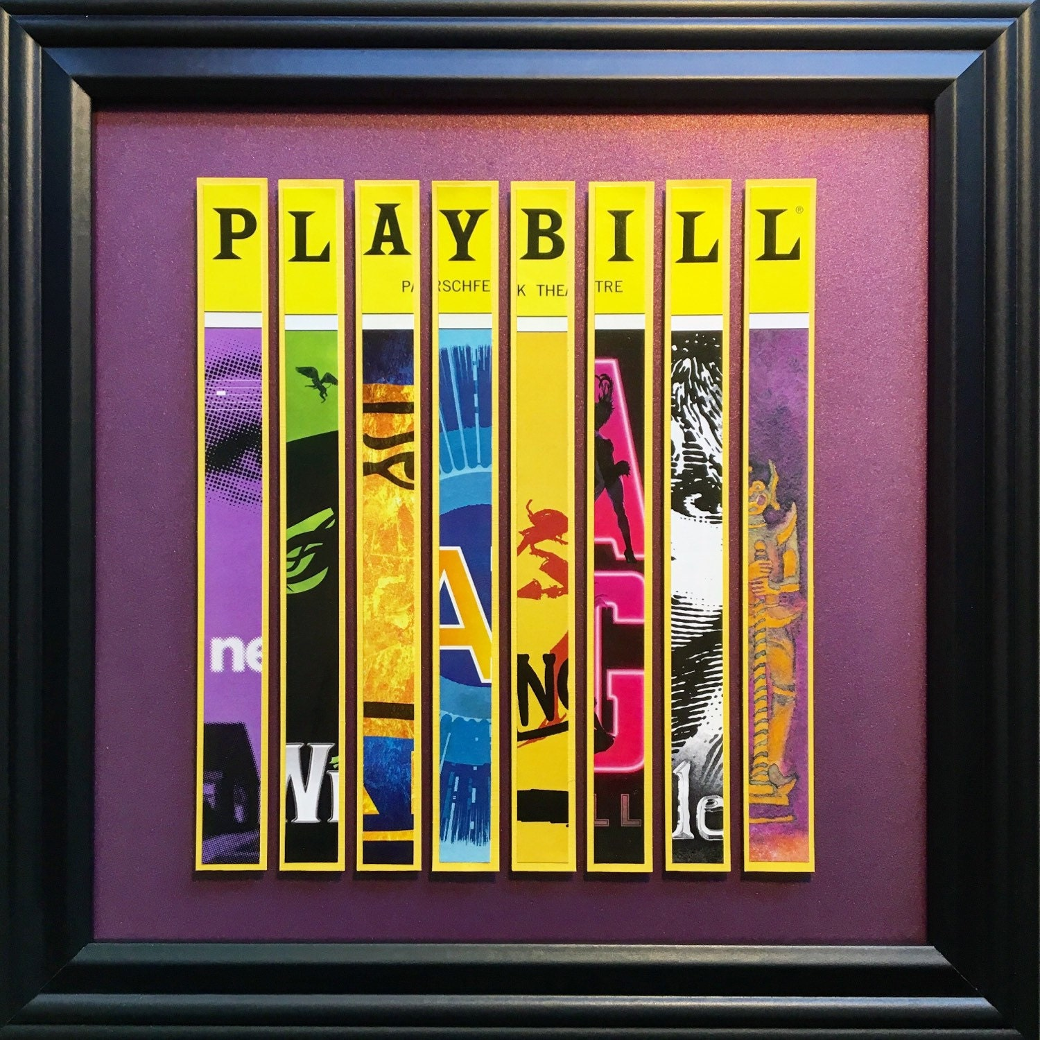 Custom Broadway Playbill Framed Art Collage - Personalize It!