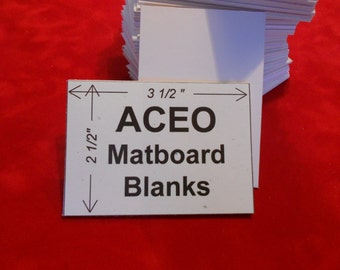 ACEO Matboard Blanks (50) White Matboard Blanks for backing and crafts