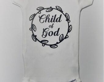 Child of God Baby Onesie for Newborn