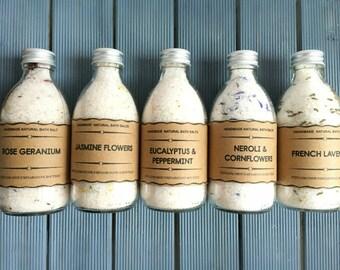 Organic Bath Salts//Mothers Day Gift, Bath Soak, Body detoxifying, Girlfriend Gift, Aromatherapy Bath Salts, Vegan Bath Salts/Salts for men,