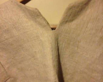 Men's shirt from homespun hempy fabric