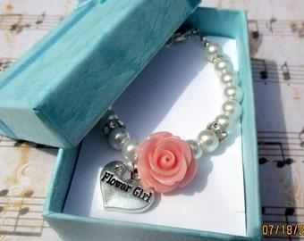 BEST SELLER-Swarovski Pearls, Toddlers Flower Girl Bracelet, Flower Girl Jewelry, Flower girl Gift, Sterling Silver,  Wedding Bracelet