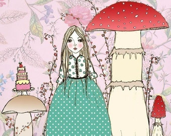 Sie träumte sich Pilze Garten