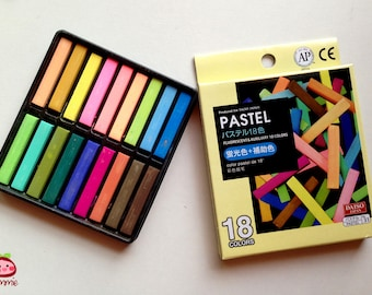 Color Chalk, Pastel Chalk, pastel, chalk, drawing, painting, craft, colorful, colored, pink, green, brown, yellow, blue, bright, 18 colors
