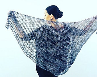 ATHAME Knitting Pattern Shawl