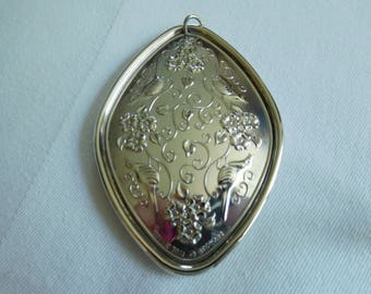 Vintage 1974 Towle Sterling Silver Medallion/Ornament Four Calling Birds in Original Box