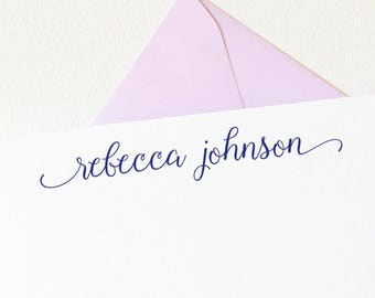Personalized Stationery | Script Personalized Stationary | Stationary Personalized | Personalized Thank You Cards | Personalized Gift