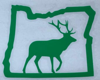 Elk in Oregon Vinyl Decal - Bumper Sticker
