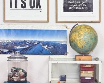 ON SALE!!!  -->  It's Ok - Letterpress print