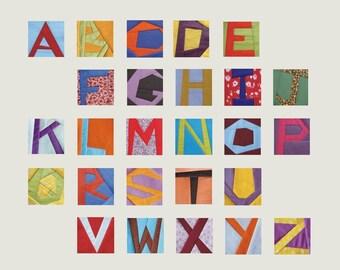 "Funny alphabet  Paper foundation blocks PDF Sewing Patterns 3"""