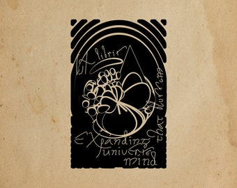 EX LIBRIS - gum rubber stamp mounted on foam & support wood - personalized gift - for book lovers
