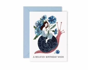 BIRTHDAY SNAIL card