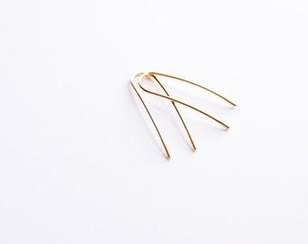 Gold Earrings Minimalist - Gold Earrings Modern Minimalist Jewelry