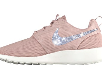 Womens Bling Nike Roshe One in Particle Pink with hand placed SWAROVSKI® Crystals ~ Bling Sneakers ~ Custom Nike Roshe
