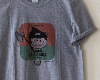 T-Shirt Grey man ' VACCABOIA ' de ' I Roofi ® '