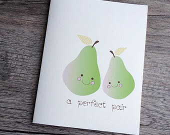 A Perfect Pair Card - Set of 4