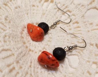 Orange Aromatherapy Earrings