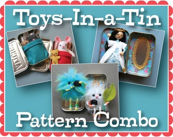 Toys-In-a-Tin PDF Pattern Combo