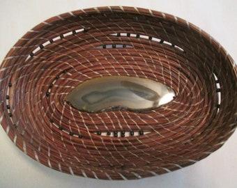 handmade, pine needle basket